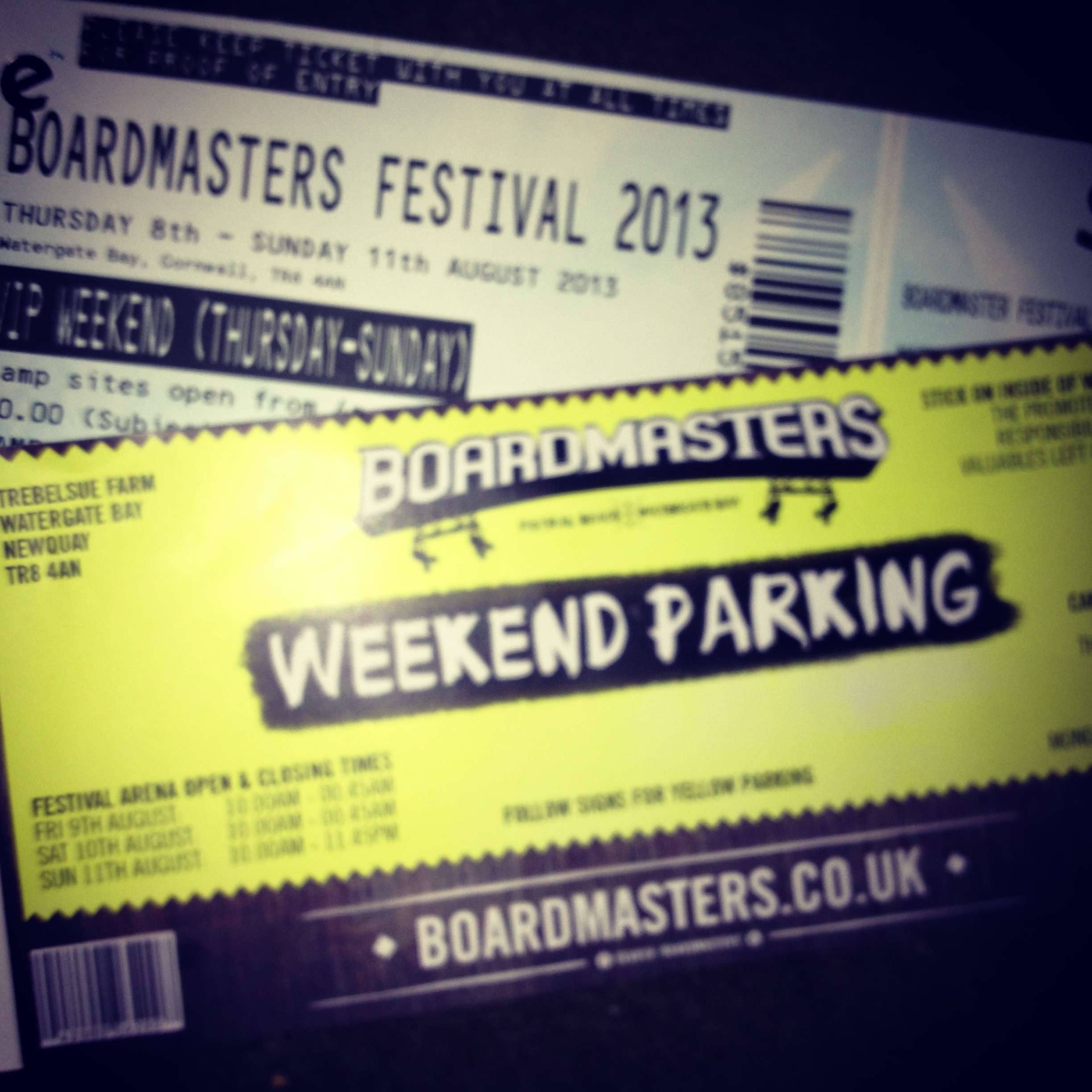 Boardmasters Vip Tickets And Car Parking And Camping For Whole