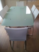 Glass / Chrome Dining Table & 6 Chairs