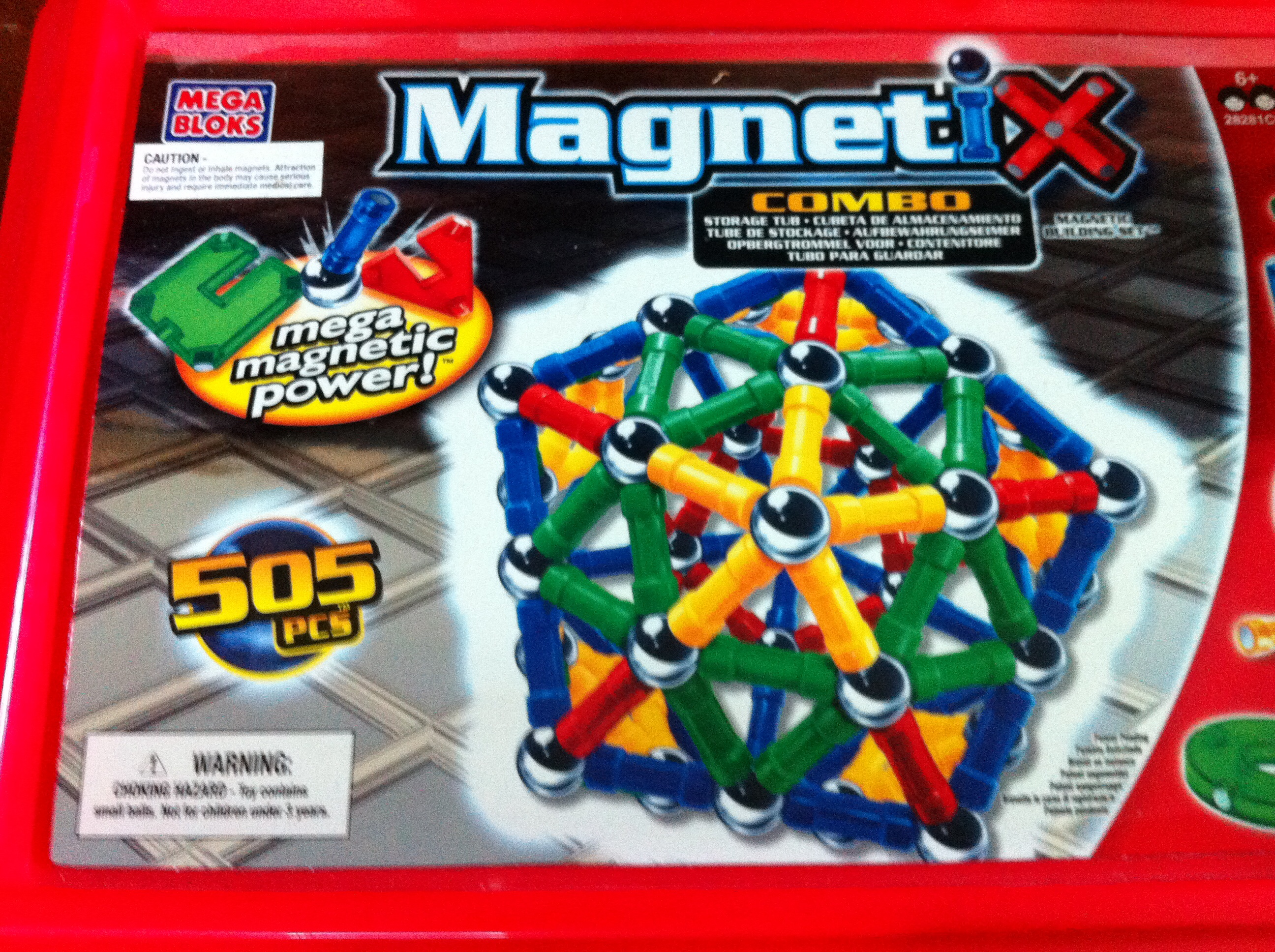 Magnetix 505 Piece Building Set In Storage Tub