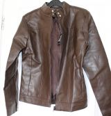 faux-leather ladies jacket