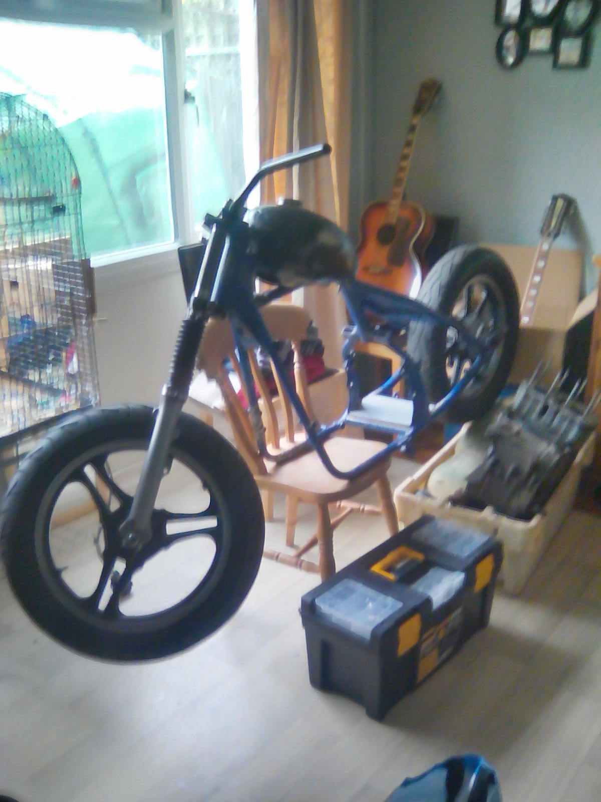 KAWASAKI Z400 HARDTAIL CHOP ROLLING FRAME WITH ALL PARTS TO BUILD